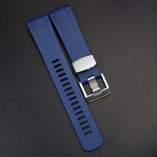 Royal Blue Premium Vulcanised Rubber Watch Strap w/ Curved Ends For Tudor Pelagos Series - Strapholic_錶帶工房, Rolex, IWC, Panerai, AP, Cartier, Tudor, Omega, Watch_Bands