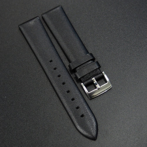 Black Calf Leather Watch Strap - Strapconcept_錶帶工房, Rolex_Leather, IWC_Strap, Panerai_Strap, AP_Rubber, Cartier_Leather, Tudor_Nato, Omega_Rubber, Watch_Straps