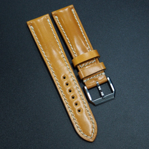 Brown Cordovan Leather Watch Strap - Strapconcept_錶帶工房, Rolex_Leather, IWC_Strap, Panerai_Strap, AP_Rubber, Cartier_Leather, Tudor_Nato, Omega_Rubber, Watch_Straps