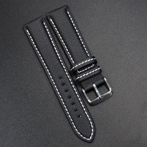 Black Carbon Fiber / White Stitching Watch Strap - Strapholic_錶帶工房, Rolex, IWC, Panerai, AP, Cartier, Tudor, Omega, Watch_Bands