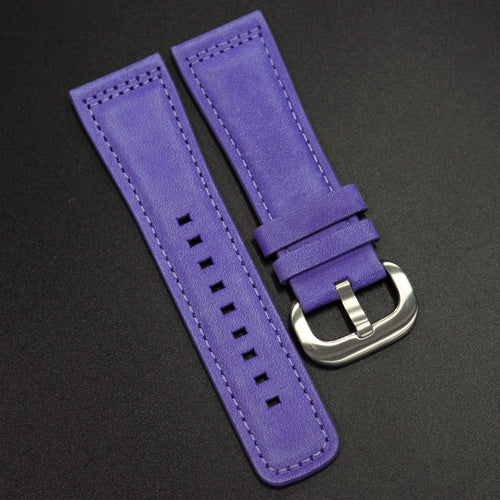Violet Calf Leather Watch Strap - Strapconcept_錶帶工房, Rolex_Leather, IWC_Strap, Panerai_Strap, AP_Rubber, Cartier_Leather, Tudor_Nato, Omega_Rubber, Watch_Straps