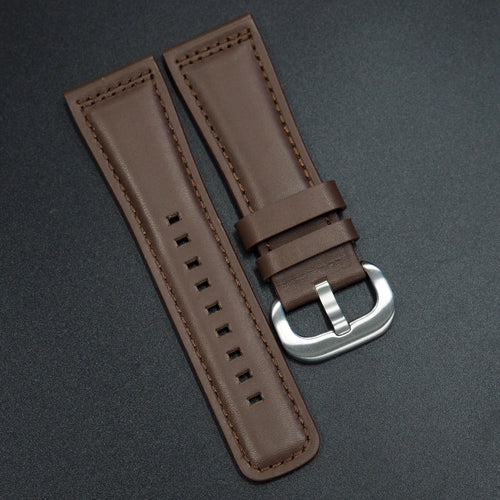 SevenFriday Style Walnut Brown Calf Leather Watch Strap - Strapholic_錶帶工房, Rolex, IWC, Panerai, AP, Cartier, Tudor, Omega, Watch_Bands
