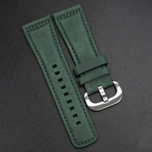 Hunter Green Calf Leather Watch Strap - Strapconcept_錶帶工房, Rolex_Leather, IWC_Strap, Panerai_Strap, AP_Rubber, Cartier_Leather, Tudor_Nato, Omega_Rubber, Watch_Straps