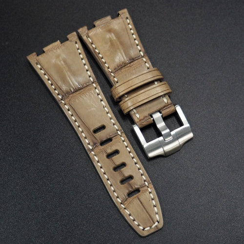 Premium Trombone Yellow Alligator Leather Watch Strap - Strapconcept_錶帶工房, Rolex_Leather, IWC_Strap, Panerai_Strap, AP_Rubber, Cartier_Leather, Tudor_Nato, Omega_Rubber, Watch_Straps