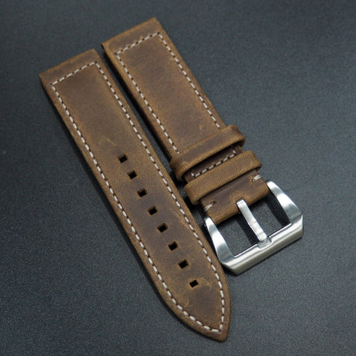 Brown Calf Leather Watch Strap - Strapconcept_錶帶工房, Rolex_Leather, IWC_Strap, Panerai_Strap, AP_Rubber, Cartier_Leather, Tudor_Nato, Omega_Rubber, Watch_Straps