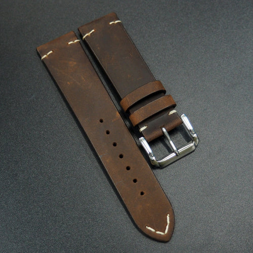 Brunette Brown Calf Leather Watch Strap - Strapconcept_錶帶工房, Rolex_Leather, IWC_Strap, Panerai_Strap, AP_Rubber, Cartier_Leather, Tudor_Nato, Omega_Rubber, Watch_Straps