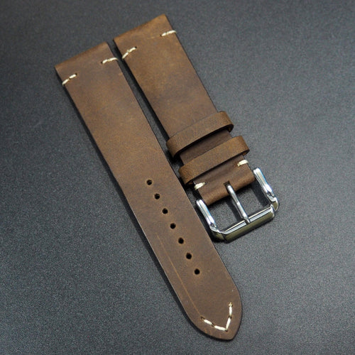 Pecan Brown Calf Leather Watch Strap - Strapconcept_錶帶工房, Rolex_Leather, IWC_Strap, Panerai_Strap, AP_Rubber, Cartier_Leather, Tudor_Nato, Omega_Rubber, Watch_Straps