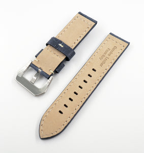 Navy Blue Italian Genesis Calf Leather Watch Strap w/ Buckle - Strapholic_錶帶工房, Rolex, IWC, Panerai, AP, Cartier, Tudor, Omega, Watch_Bands