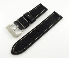 Black Calf Leather Watch Strap w/ Buckle For Panerai - Strapholic_錶帶工房, Rolex, IWC, Panerai, AP, Cartier, Tudor, Omega, Watch_Bands