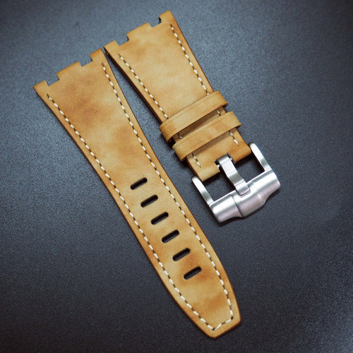 Mellow Yellow Italian Calf Leather Watch Strap