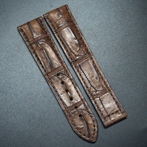 Walnut Brown Alligator Leather Watch Strap