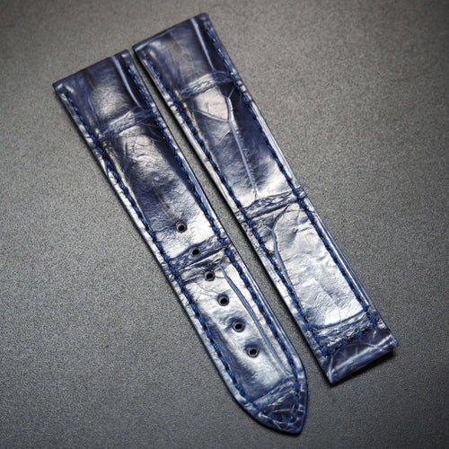 Navy Blue Alligator Leather Watch Strap