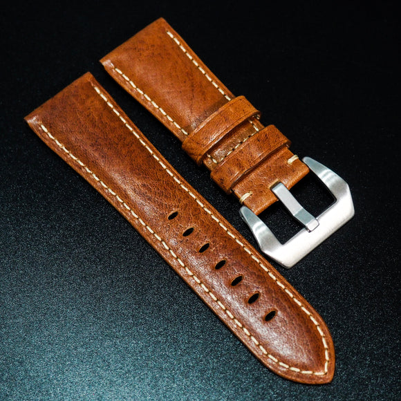 Panerai Style Premium Brown Calf Leather Watch Strap - Strapholic_錶帶工房, Rolex, IWC, Panerai, AP, Cartier, Tudor, Omega, Watch_Bands