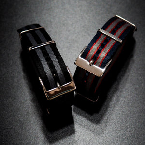 Omega Style Black / Gray High Quality Nato Nylon Watch Strap - Strapholic_錶帶工房, Rolex, IWC, Panerai, AP, Cartier, Tudor, Omega, Watch_Bands