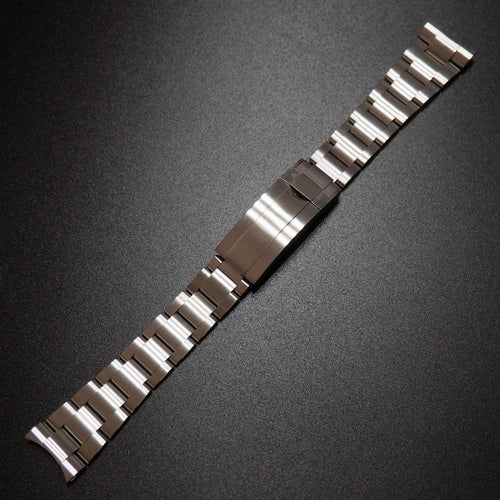 Rolex Style Stainless Steel Watch Strap With Curved Ends - Strapholic_錶帶工房, Rolex, IWC, Panerai, AP, Cartier, Tudor, Omega, Watch_Bands