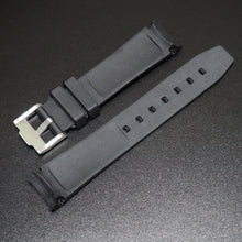20mm Black w/ Blue Line Rubber Watch Strap With Curved Ends For Rolex - Strapholic_錶帶工房, Rolex, IWC, Panerai, AP, Cartier, Tudor, Omega, Watch_Bands