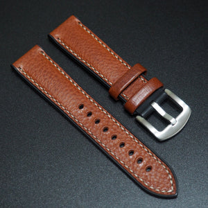 Performance Style Brown Italian Calf Leather Watch Strap w/ Buckle - Strapholic_錶帶工房, Rolex, IWC, Panerai, AP, Cartier, Tudor, Omega, Watch_Bands