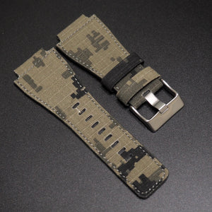Bell & Ross Style Tortilla Brown Camouflage Nylon Watch Strap w/ Tang Buckle - Strapholic_錶帶工房, Rolex, IWC, Panerai, AP, Cartier, Tudor, Omega, Watch_Bands