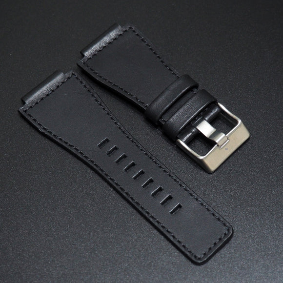 Bell & Ross Style Black Calf Leather Watch Strap w/ Buckle - Strapholic_錶帶工房, Rolex, IWC, Panerai, AP, Cartier, Tudor, Omega, Watch_Bands