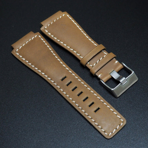 Corn Yellow Calf Leather Watch Strap w/ Buckle - Strapconcept_錶帶工房, Rolex_Leather, IWC_Strap, Panerai_Strap, AP_Rubber, Cartier_Leather, Tudor_Nato, Omega_Rubber, Watch_Straps