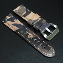 24mm Camouflage Calf Leather Watch Strap w/ Buckle For Panerai - Strapholic_錶帶工房, Rolex, IWC, Panerai, AP, Cartier, Tudor, Omega, Watch_Bands