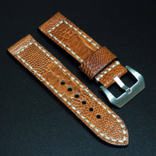 Orange Ostrich Leather Watch Strap w/ Buckle For Panerai - Strapholic_錶帶工房, Rolex, IWC, Panerai, AP, Cartier, Tudor, Omega, Watch_Bands
