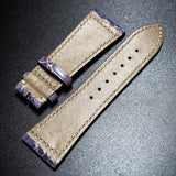 Frank Muller Style Pigeon Blue Alligator Leather Watch Strap - Strapholic_錶帶工房, Rolex, IWC, Panerai, AP, Cartier, Tudor, Omega, Watch_Bands