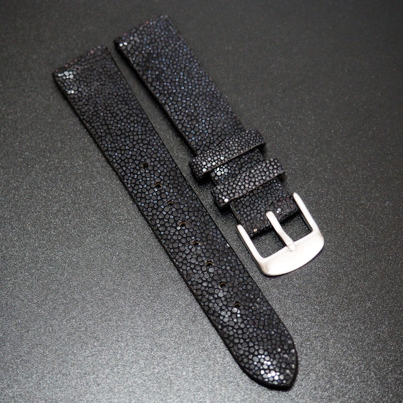 Premium Black Stingray Leather Watch Strap - Strapholic_錶帶工房, Rolex, IWC, Panerai, AP, Cartier, Tudor, Omega, Watch_Bands