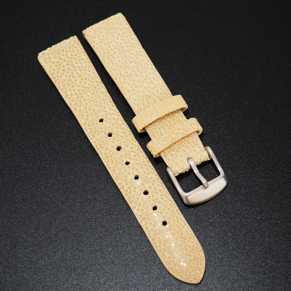 Premium Banana Yellow Stingray Leather Watch Strap