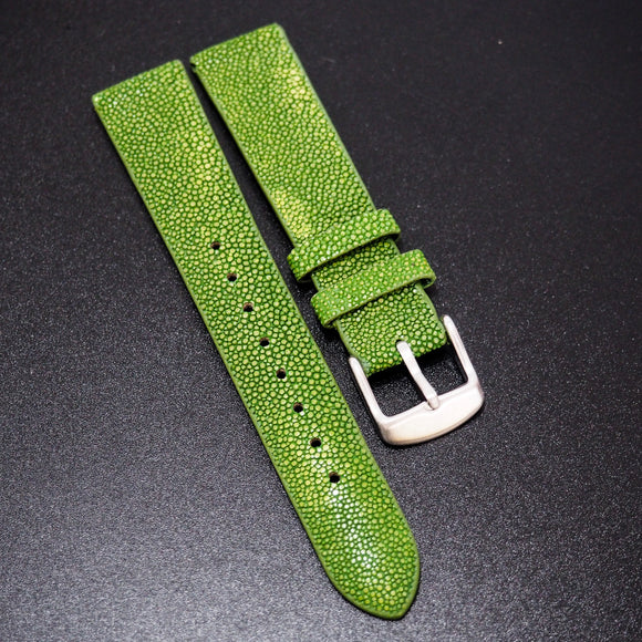 Premium Green Stingray Leather Watch Strap - Strapholic_錶帶工房, Rolex, IWC, Panerai, AP, Cartier, Tudor, Omega, Watch_Bands