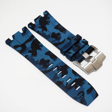 Blue Camouflage Premium Rubber Watch Strap With Buckle For Audemars Piguet Royal Oak Offshore - Strapholic_錶帶工房, Rolex, IWC, Panerai, AP, Cartier, Tudor, Omega, Watch_Bands