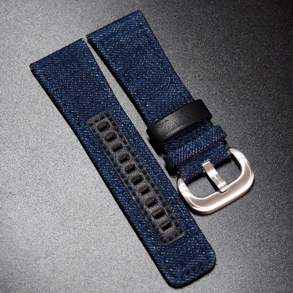 SevenFriday Style Blue Canvas Watch Strap - Strapholic_錶帶工房, Rolex, IWC, Panerai, AP, Cartier, Tudor, Omega, Watch_Bands