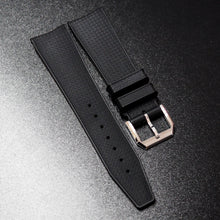 Black Premium Rubber Watch Strap w/ Deployment Clasp For IWC - Strapholic_錶帶工房, Rolex, IWC, Panerai, AP, Cartier, Tudor, Omega, Watch_Bands
