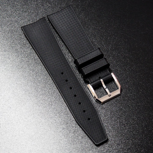 Black Premium Rubber Watch Strap For IWC - Strapholic_錶帶工房, Rolex, IWC, Panerai, AP, Cartier, Tudor, Omega, Watch_Bands