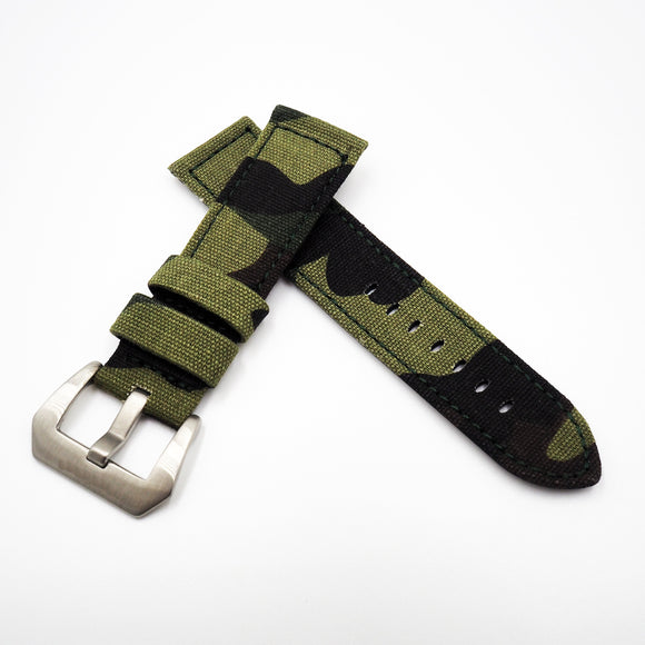 Camouflage Green Panerai Style Nylon Watch Strap w/ Buckle - Strapholic_錶帶工房, Rolex, IWC, Panerai, AP, Cartier, Tudor, Omega, Watch_Bands