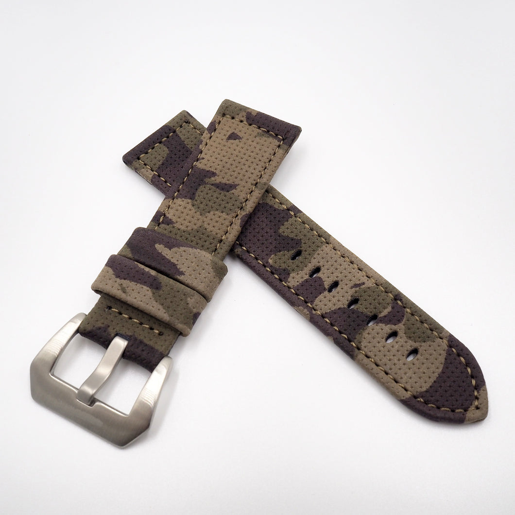 Camouflage Gray Panerai Style Calf Leather Watch Strap w/ Buckle - Strapholic_錶帶工房, Rolex, IWC, Panerai, AP, Cartier, Tudor, Omega, Watch_Bands