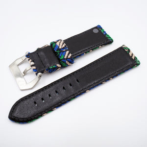Geometry Pattern Panerai Style Cotton Watch Strap w/ Buckle - Strapholic_錶帶工房, Rolex, IWC, Panerai, AP, Cartier, Tudor, Omega, Watch_Bands