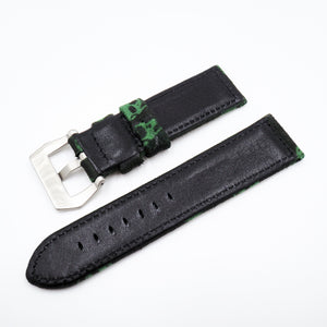 Green Skull Pattern Panerai Style Cotton Watch Strap w/ Buckle - Strapholic_錶帶工房, Rolex, IWC, Panerai, AP, Cartier, Tudor, Omega, Watch_Bands