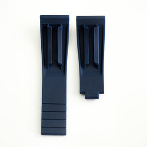 20mm Yale Blue Rubber Watch Strap With Clasp For Rolex - Strapholic_錶帶工房, Rolex, IWC, Panerai, AP, Cartier, Tudor, Omega, Watch_Bands