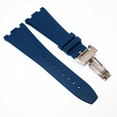 Prussian Blue Premium Rubber Watch Strap With Clasp For Audemars Piguet Royal Oak Offshore - Strapholic_錶帶工房, Rolex, IWC, Panerai, AP, Cartier, Tudor, Omega, Watch_Bands