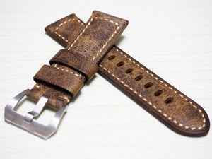 Yellow / Black Calf Leather Watch Strap w/ Buckle For Panerai - Strapholic_錶帶工房, Rolex, IWC, Panerai, AP, Cartier, Tudor, Omega, Watch_Bands