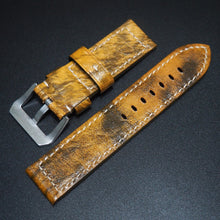 Yellow Calf Leather Watch Strap - Strapconcept_錶帶工房, Rolex_Leather, IWC_Strap, Panerai_Strap, AP_Rubber, Cartier_Leather, Tudor_Nato, Omega_Rubber, Watch_Straps