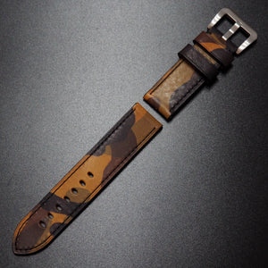 Yellow Camouflage Calf Leather Watch Strap - Strapconcept_錶帶工房, Rolex_Leather, IWC_Strap, Panerai_Strap, AP_Rubber, Cartier_Leather, Tudor_Nato, Omega_Rubber, Watch_Straps