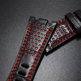 Premium Black / Red Alligator Leather Watch Strap For Audemars Piguet Royal Oak Offshore - Strapholic_錶帶工房, Rolex, IWC, Panerai, AP, Cartier, Tudor, Omega, Watch_Bands