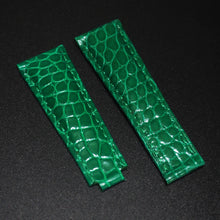 Green Seamless Pattern Alligator Leather Watch Strap With Clasp For Rolex - Strapholic_錶帶工房, Rolex, IWC, Panerai, AP, Cartier, Tudor, Omega, Watch_Bands