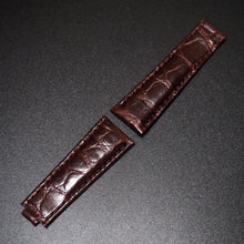 Brown Seamless Pattern Alligator Leather Watch Strap With Clasp For Rolex - Strapholic_錶帶工房, Rolex, IWC, Panerai, AP, Cartier, Tudor, Omega, Watch_Bands