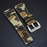 Bell & Ross Style Brown Camouflage Nylon Watch Strap - Strapholic_錶帶工房, Rolex, IWC, Panerai, AP, Cartier, Tudor, Omega, Watch_Bands