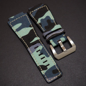 Bell & Ross Style Blue Camouflage Nylon Watch Strap - Strapholic_錶帶工房, Rolex, IWC, Panerai, AP, Cartier, Tudor, Omega, Watch_Bands