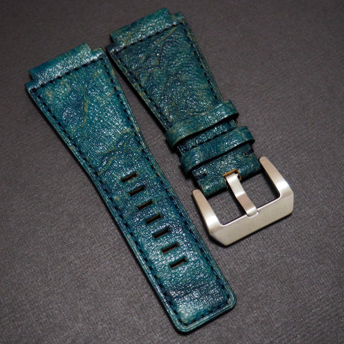 Premium Pine Green Calf Leather Watch Strap - Strapconcept_錶帶工房, Rolex_Leather, IWC_Strap, Panerai_Strap, AP_Rubber, Cartier_Leather, Tudor_Nato, Omega_Rubber, Watch_Straps