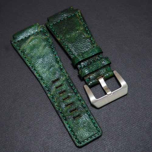 Premium Forest Green Calf Leather Watch Strap - Strapconcept_錶帶工房, Rolex_Leather, IWC_Strap, Panerai_Strap, AP_Rubber, Cartier_Leather, Tudor_Nato, Omega_Rubber, Watch_Straps